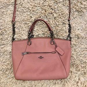 Prairie Satchel, pink Coach purse.